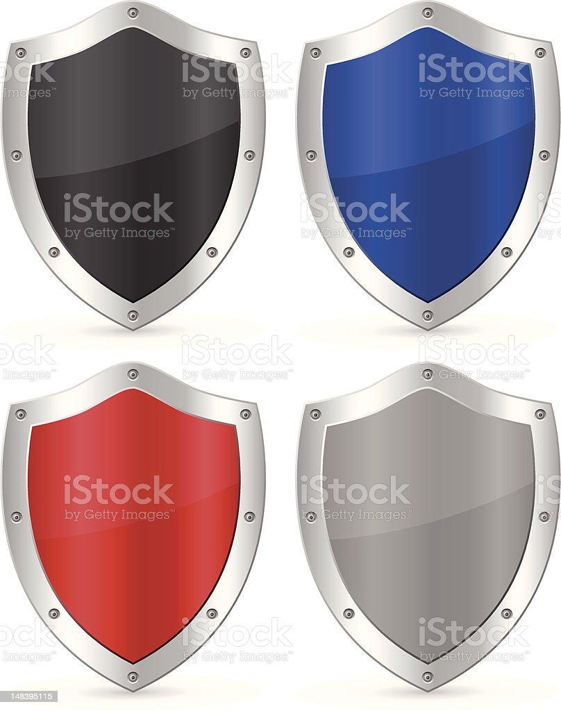 shield vector art illustration