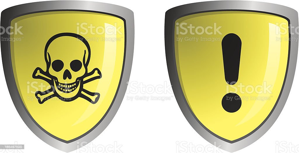 Shield warnings1 royalty-free stock vector art