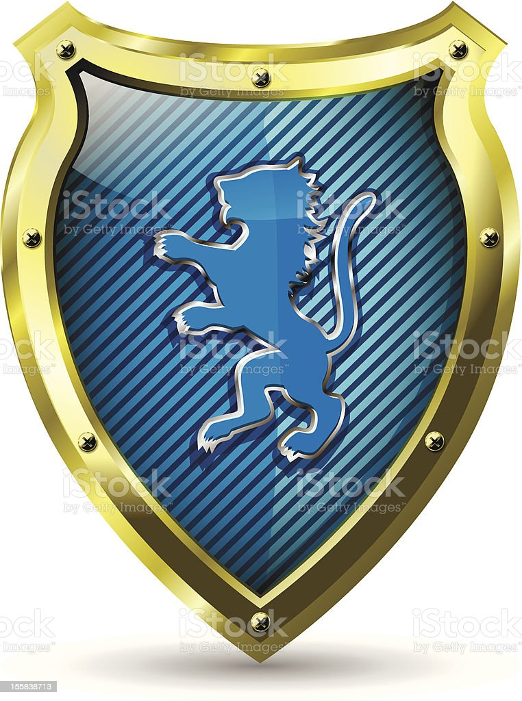 shield with a lion royalty-free stock vector art