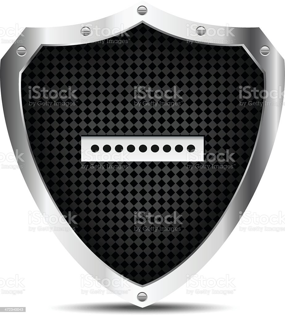 Shield with password royalty-free stock vector art
