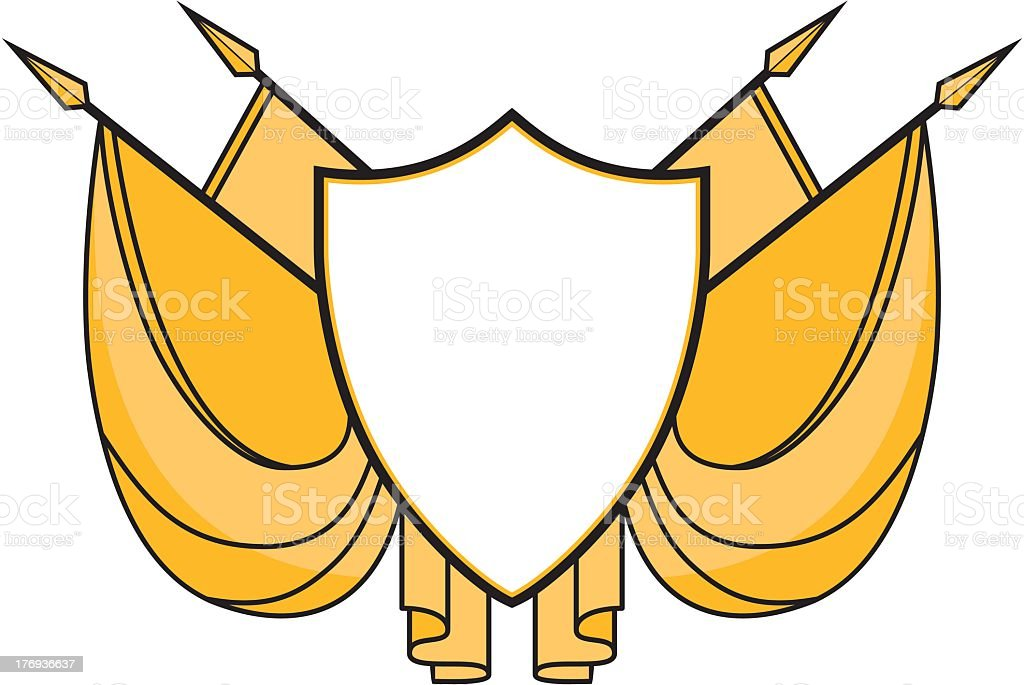 Shield With Spears royalty-free stock vector art