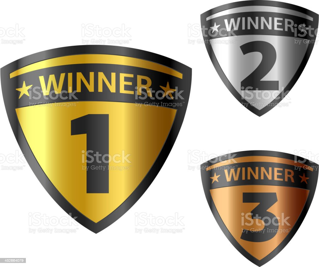 Shields award vector art illustration