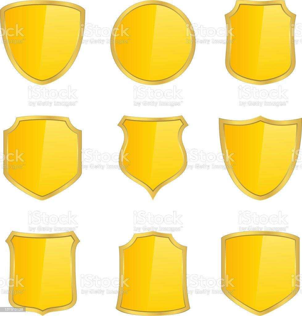 Shields vector art illustration