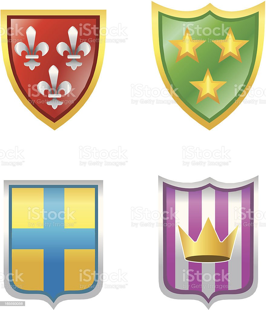 Shields royalty-free stock vector art