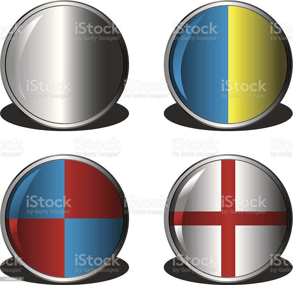 Shields royalty-free stock vector art