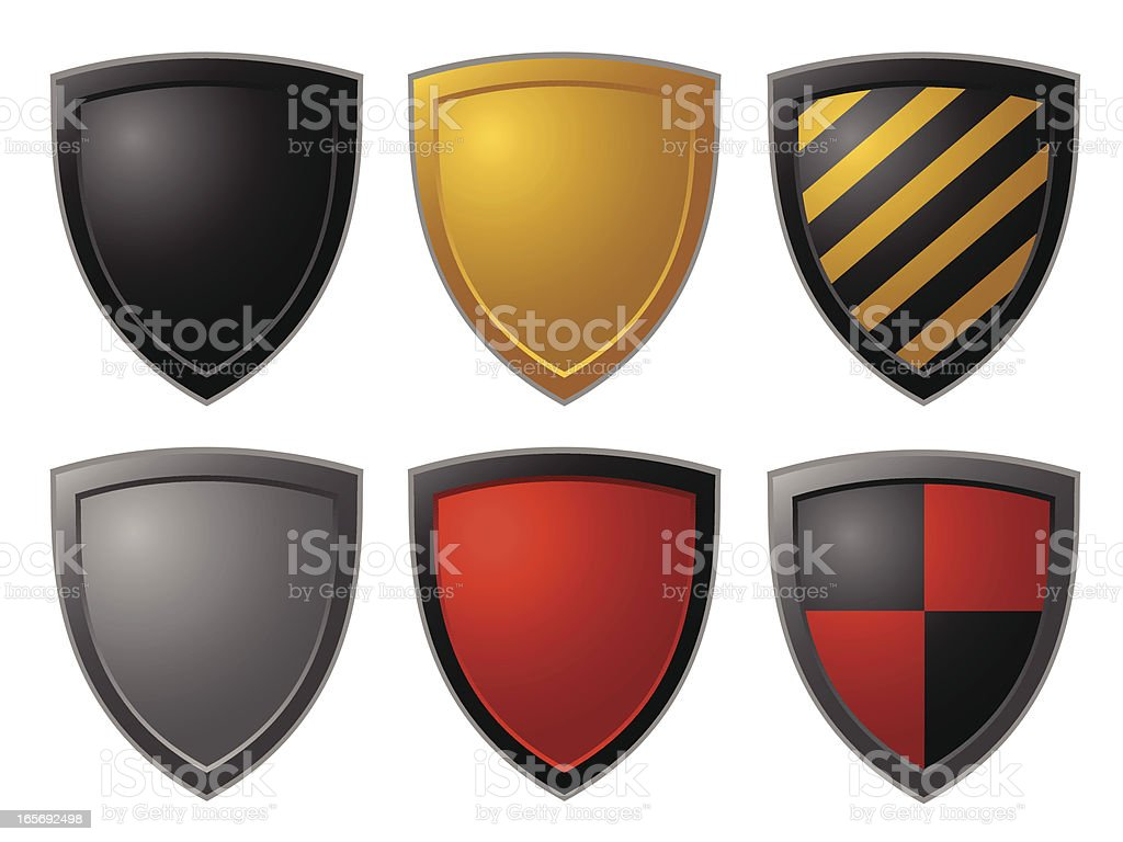 shileds royalty-free stock vector art