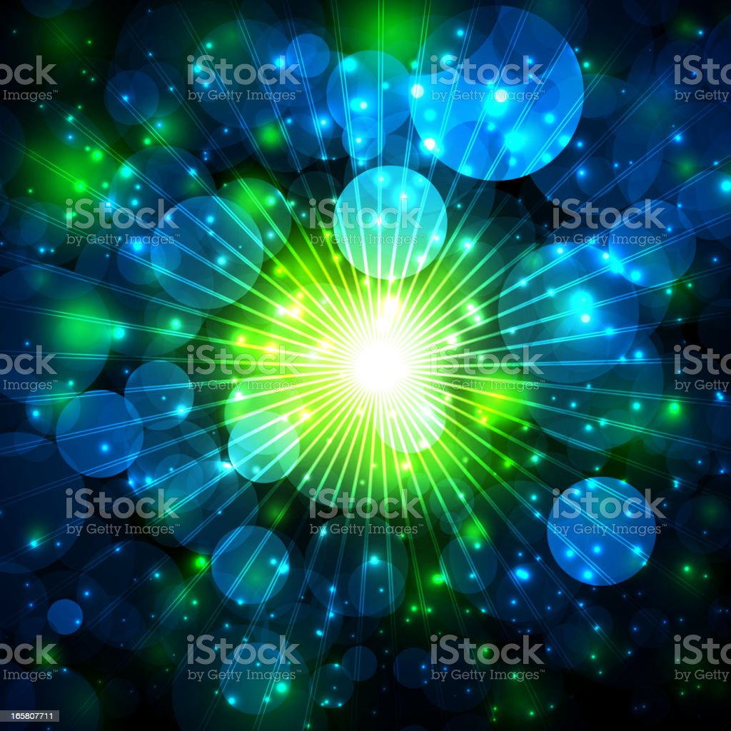 A shimmering lights with defocused background  royalty-free stock vector art