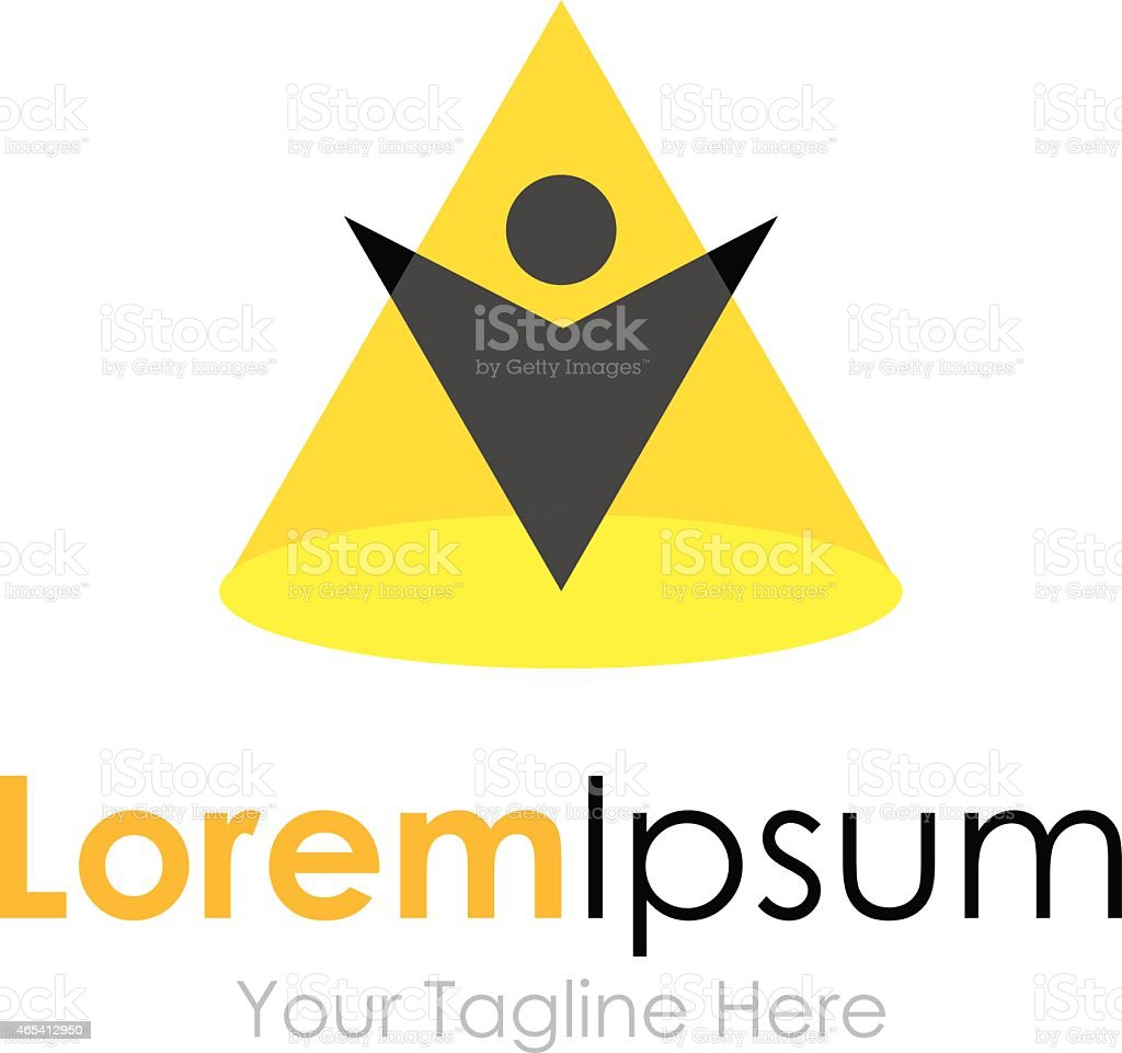 Shine under the spotlight concept elements icon logo vector art illustration