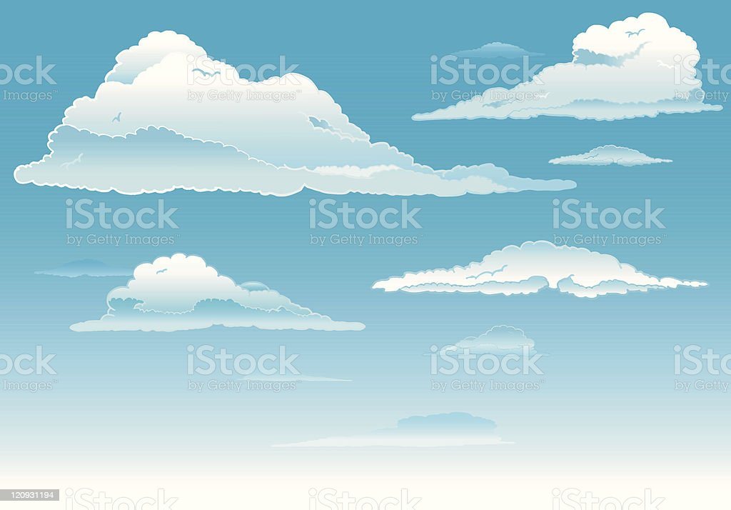 Shining Clouds royalty-free stock vector art