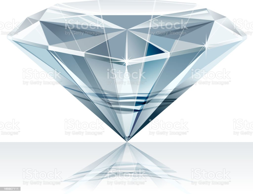 shining diamond vector art illustration