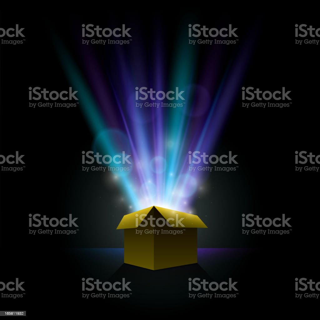 Shining gift vector art illustration