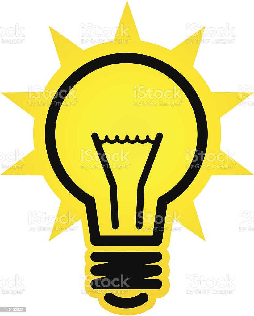 Shining light bulb icon royalty-free stock vector art