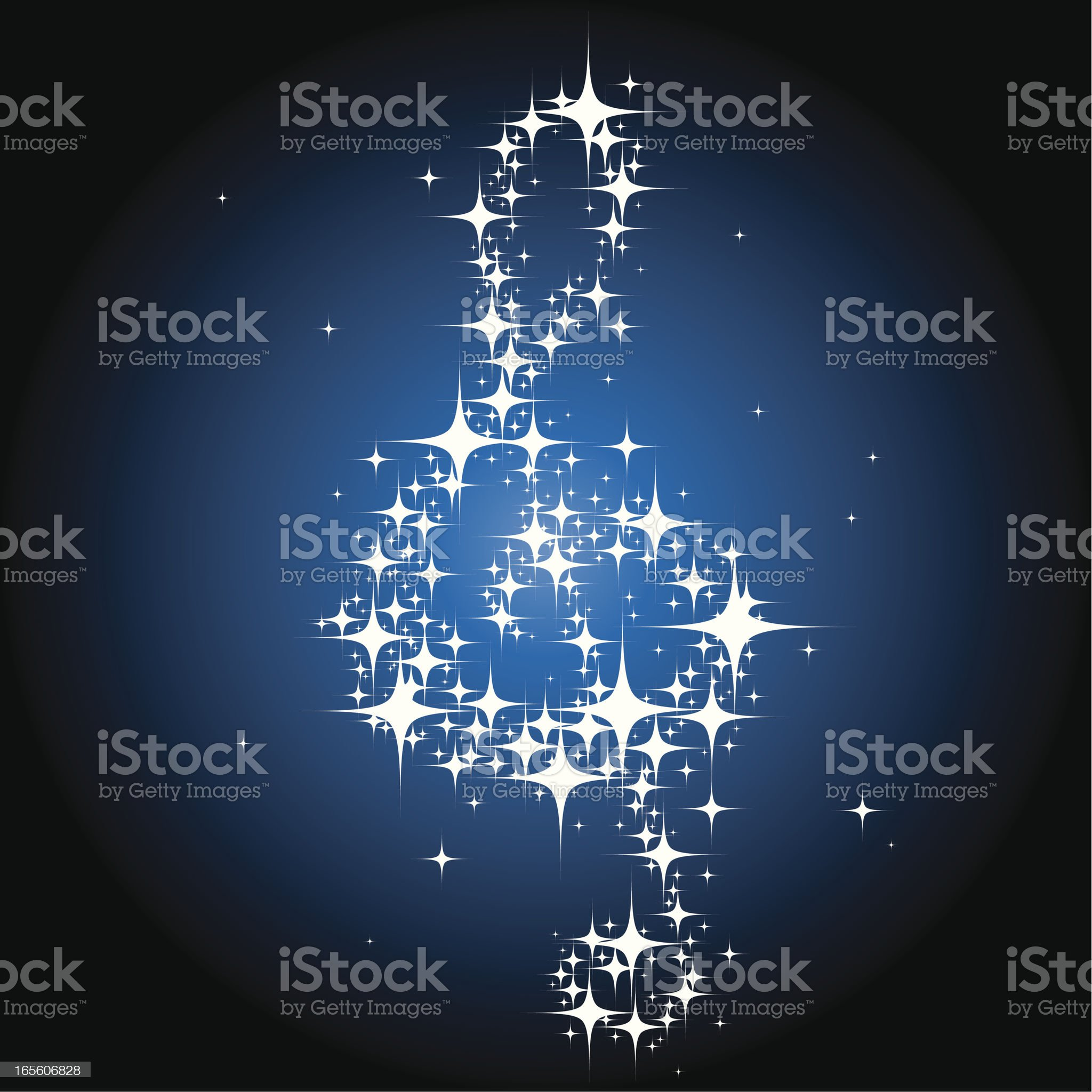 Shining Musical Note 2 royalty-free stock vector art