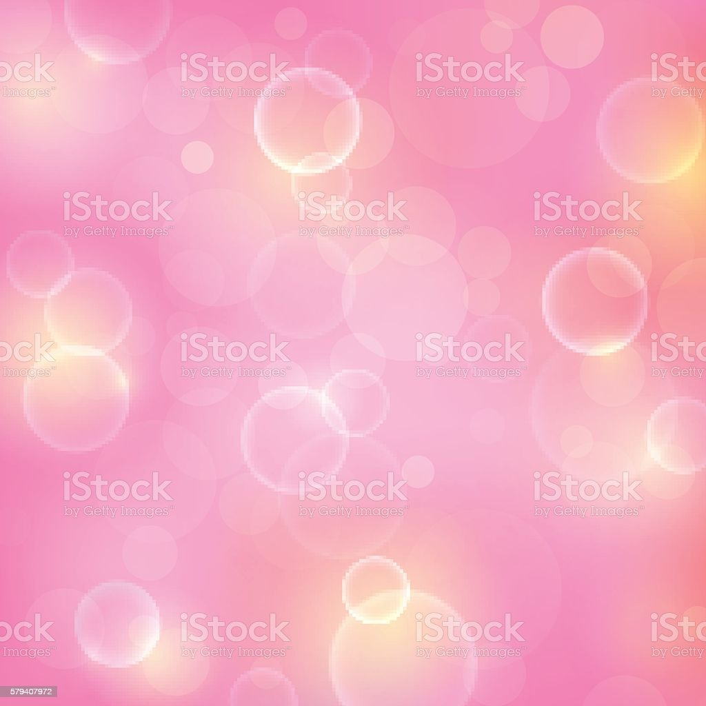 Shining pink background with light effects vector art illustration