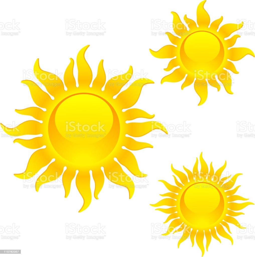 Shining sun symbols royalty-free stock vector art