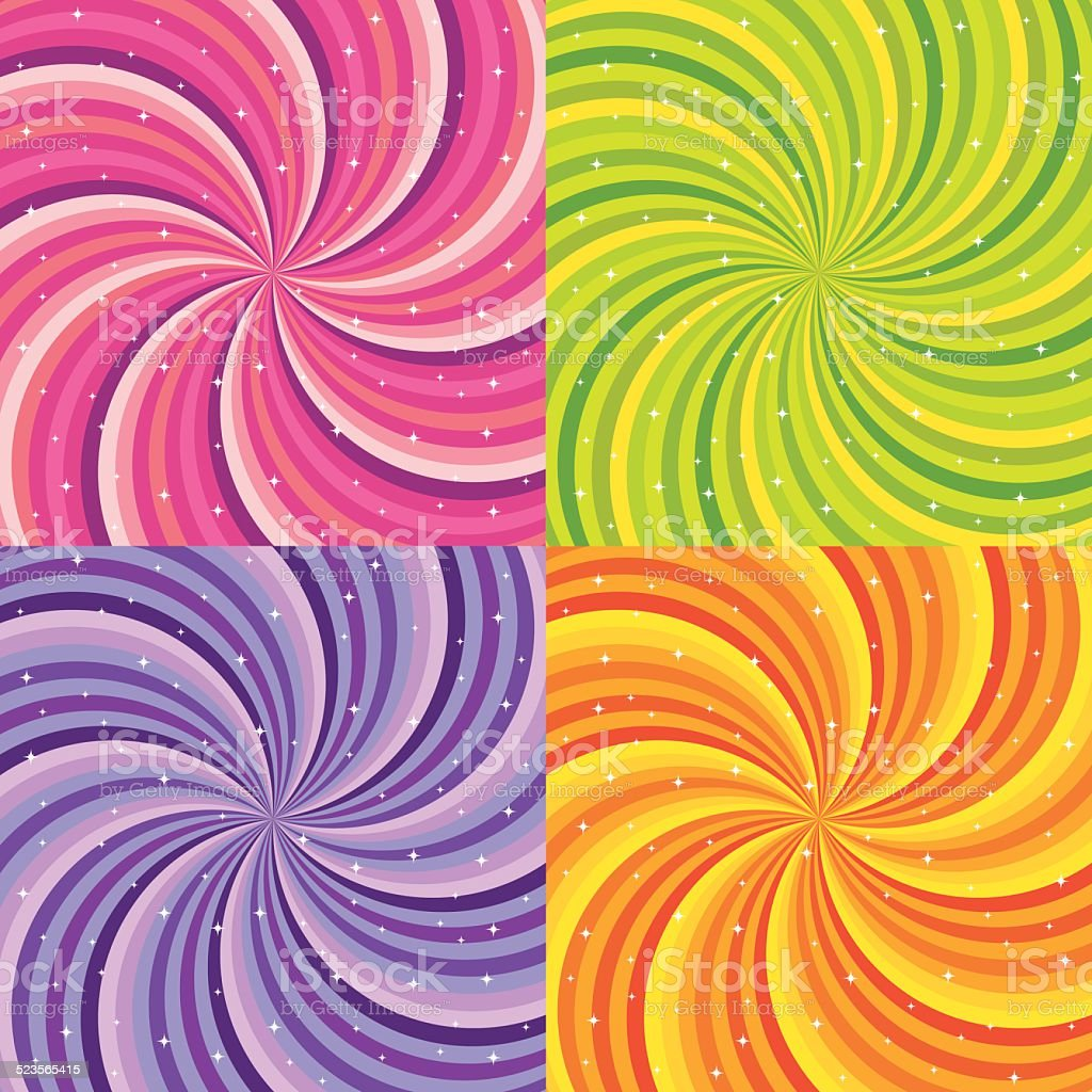 Shiny abstract background - orange, green, pink and purple. vector art illustration