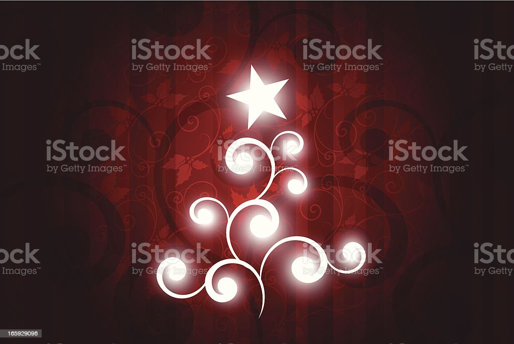 Shiny abstract xmas tree royalty-free stock vector art