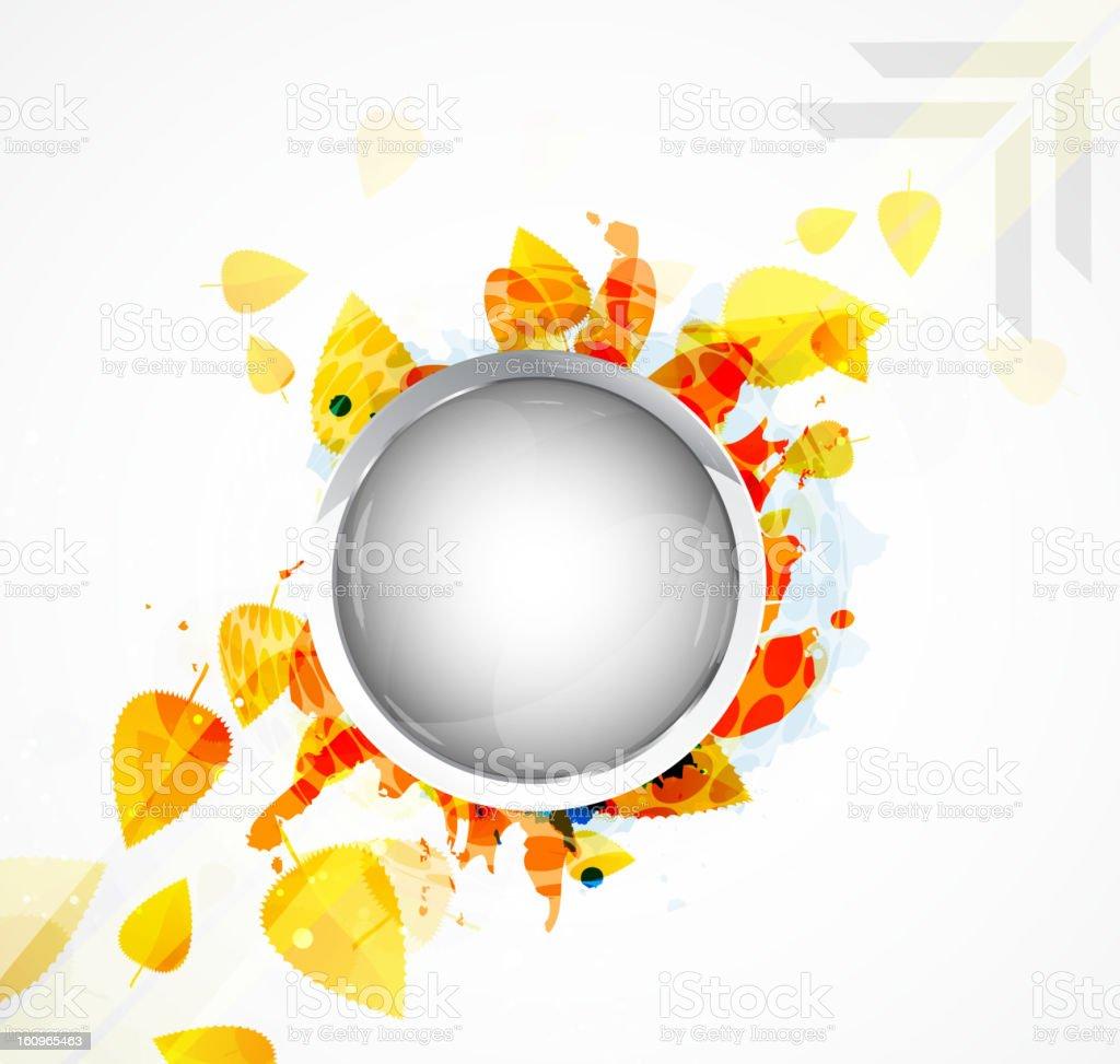 Shiny autumn background royalty-free stock vector art