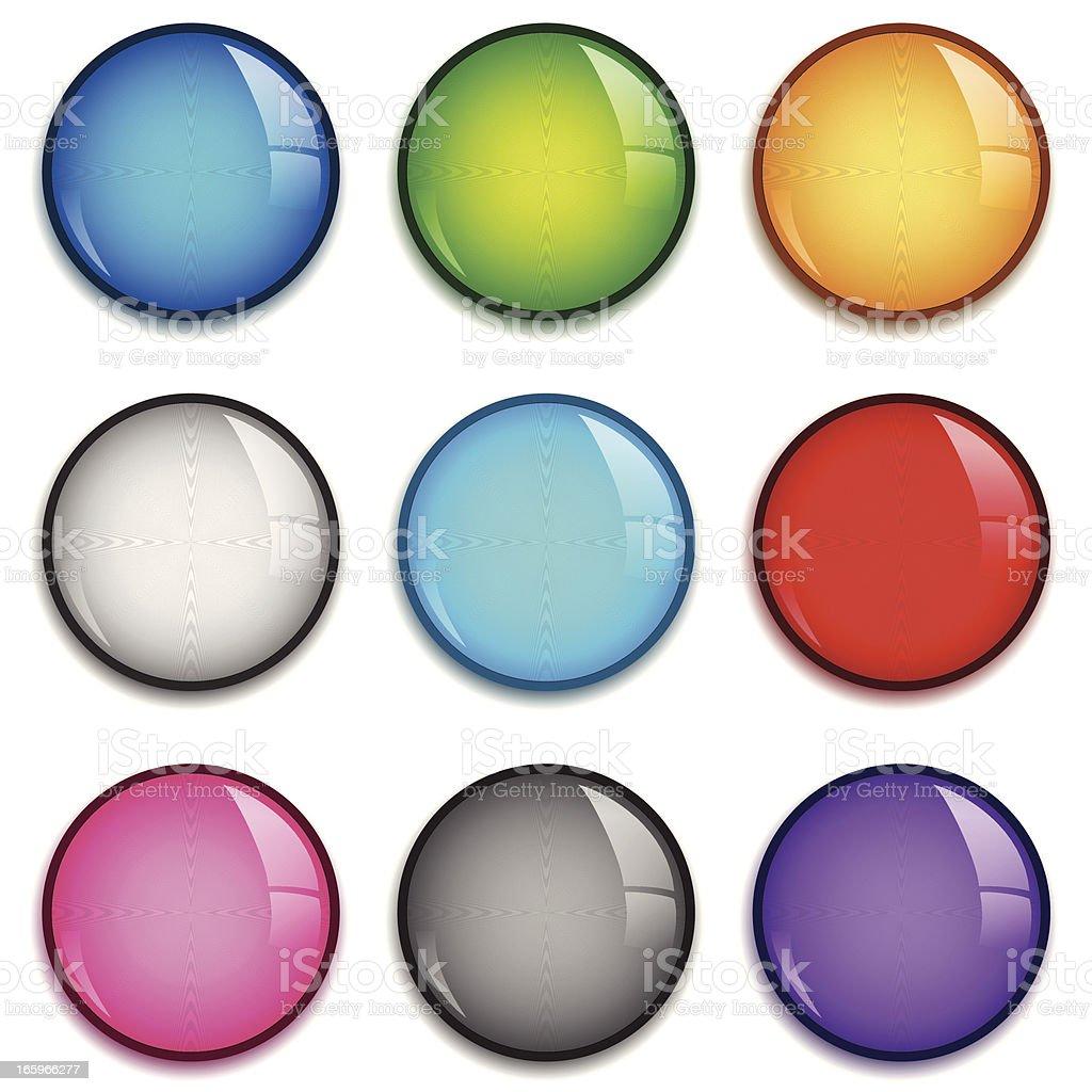 Shiny badge set vector art illustration