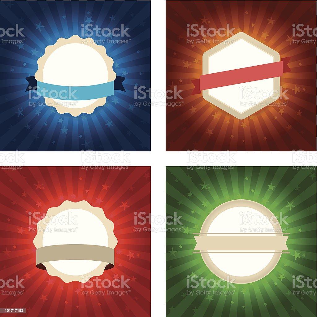shiny badges royalty-free stock vector art