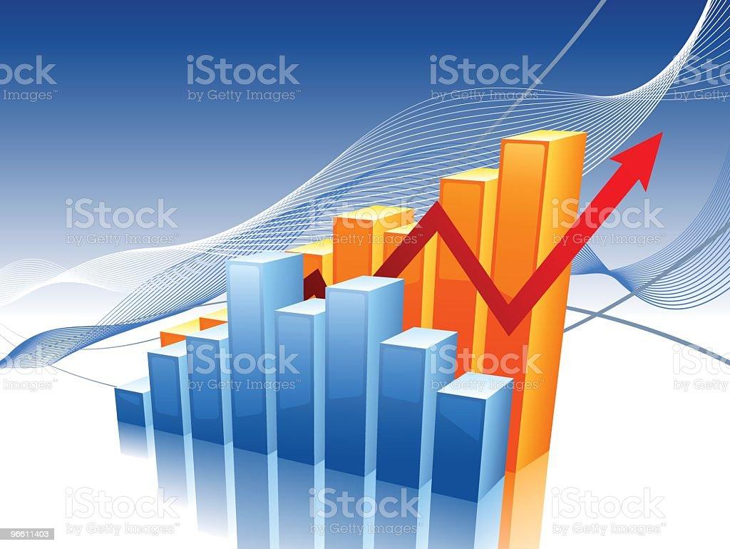 shiny bar charts royalty-free stock vector art