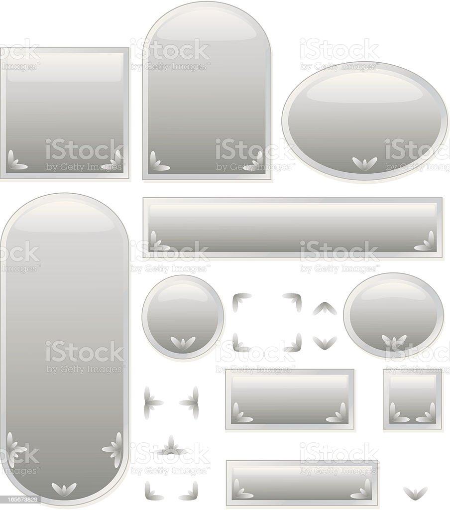 Glänzend leere Symbole und Internet-Schaltflächen-Set-Silber Lizenzfreies vektor illustration