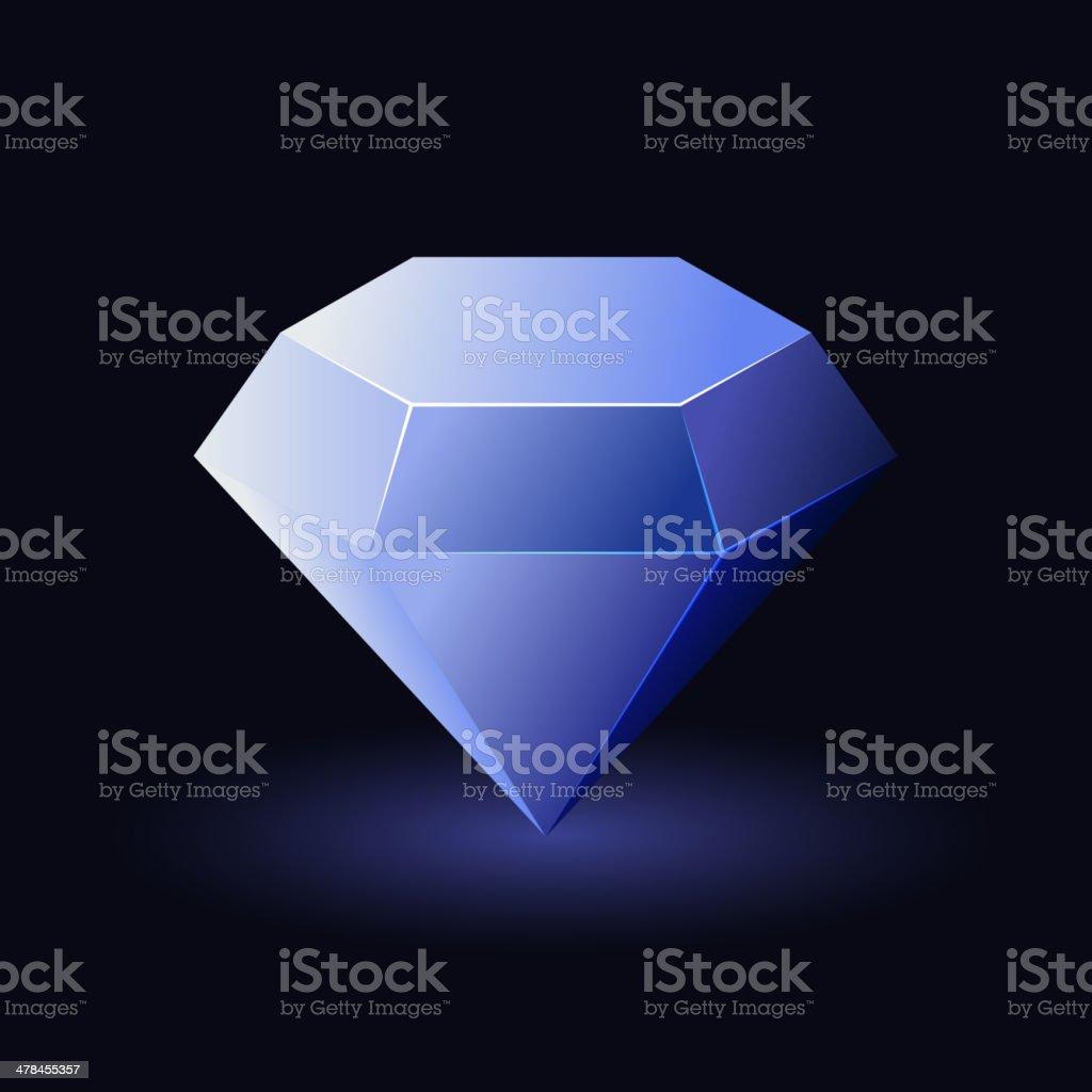 Shiny Blue Diamond royalty-free stock vector art