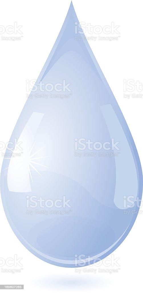 Shiny Blue Drop royalty-free stock vector art