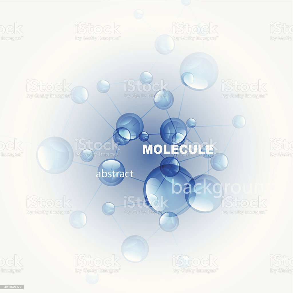 Shiny blue molecules background royalty-free stock vector art