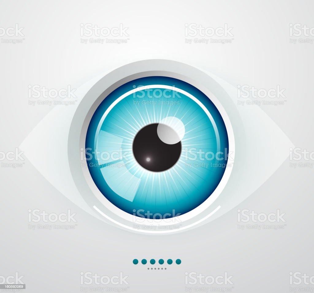 Shiny blue vector eye vector art illustration