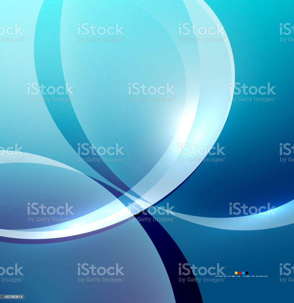Shiny blue wave background royalty-free stock vector art