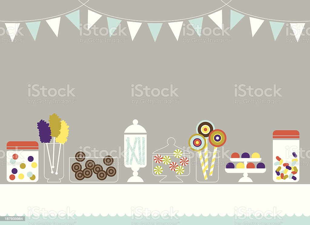Shiny Bright Candy Store vector art illustration