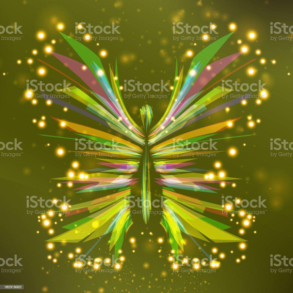 Shiny butterfly royalty-free stock vector art