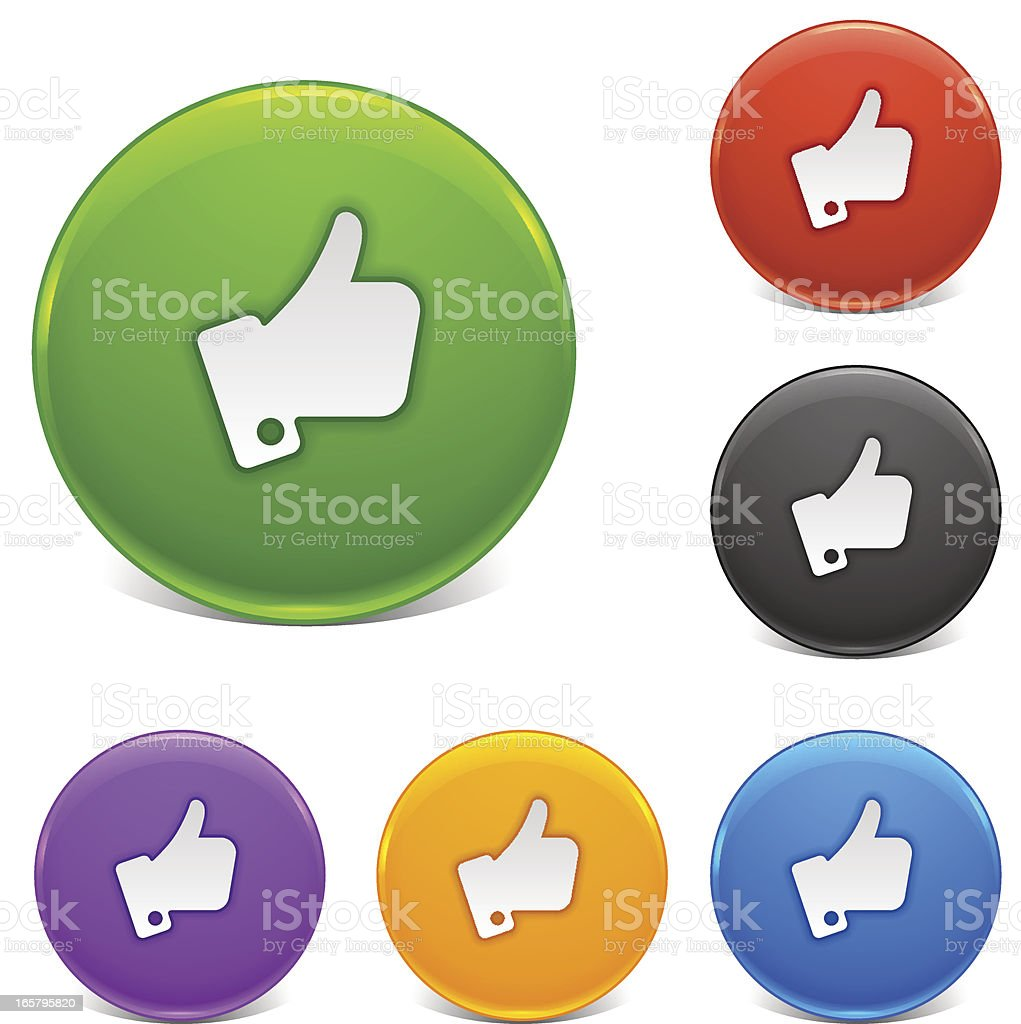 Shiny Buttons | Thumbs Up royalty-free stock vector art