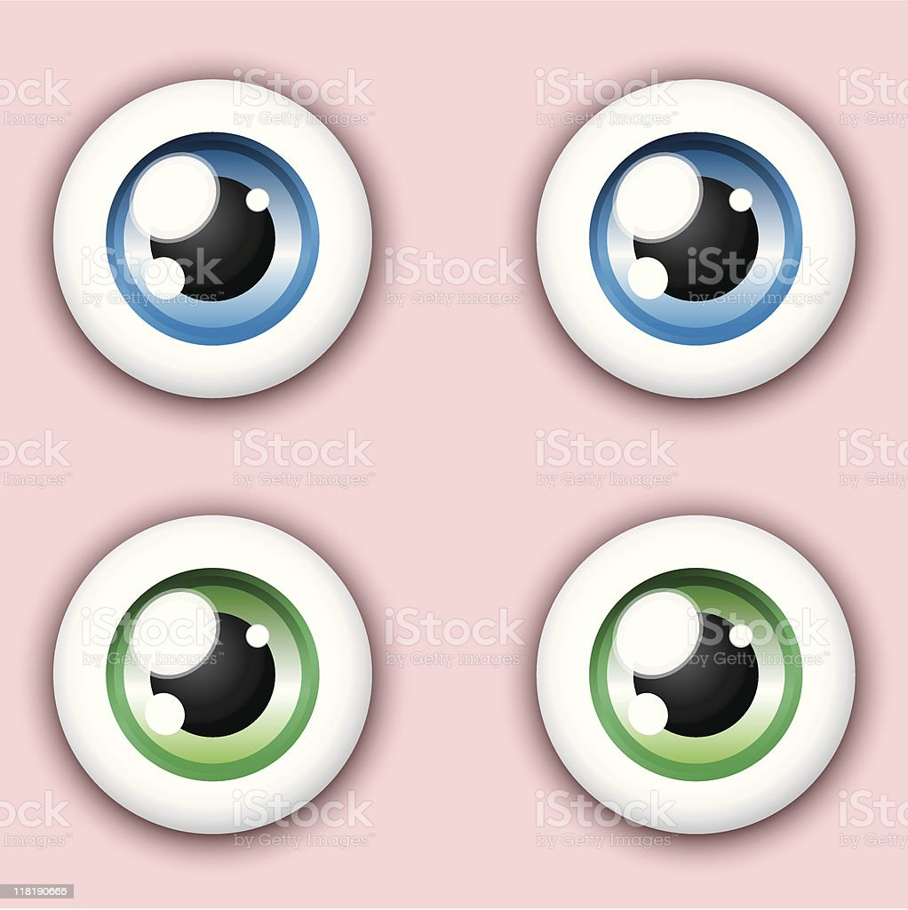 Shiny cartoon eye collection royalty-free stock vector art