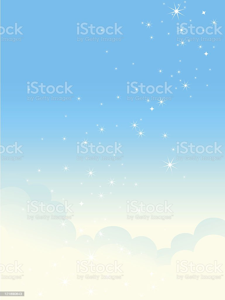 Shiny cloudscape. royalty-free stock vector art