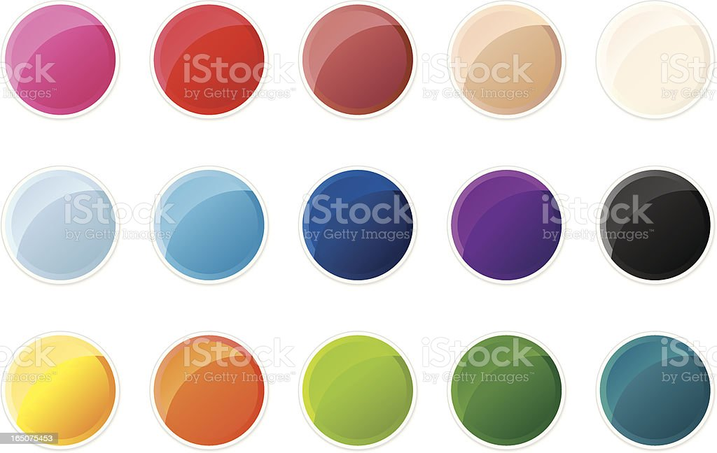 Shiny Coloured Swatches vector art illustration