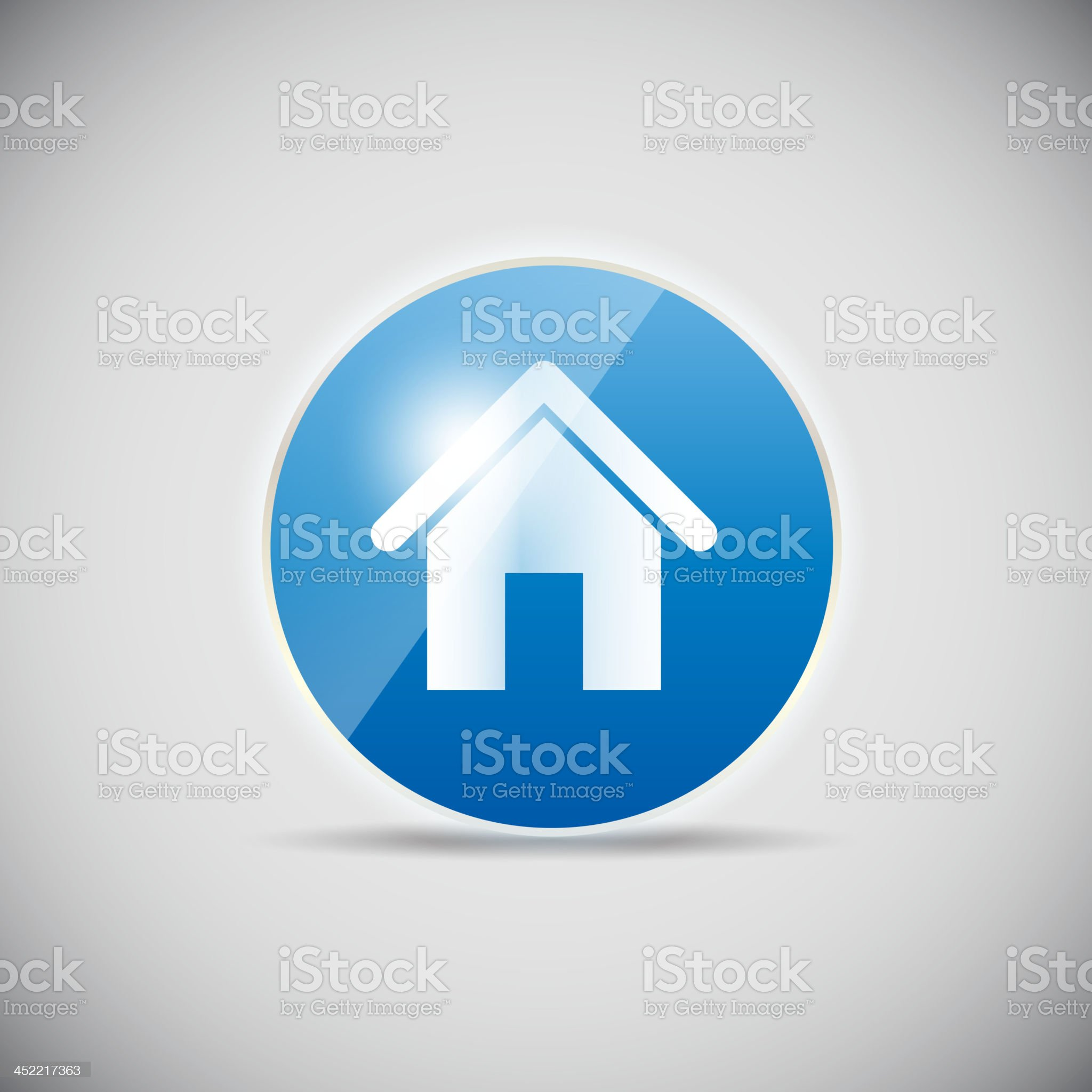 A shiny computer icon illustration on a vector royalty-free stock vector art