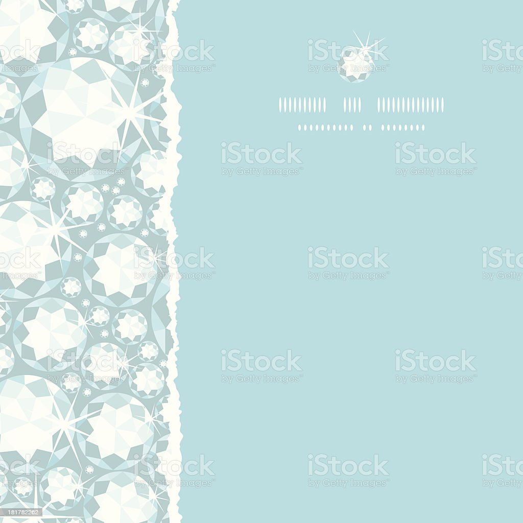 Shiny diamonds square torn frame seamless pattern background royalty-free stock vector art
