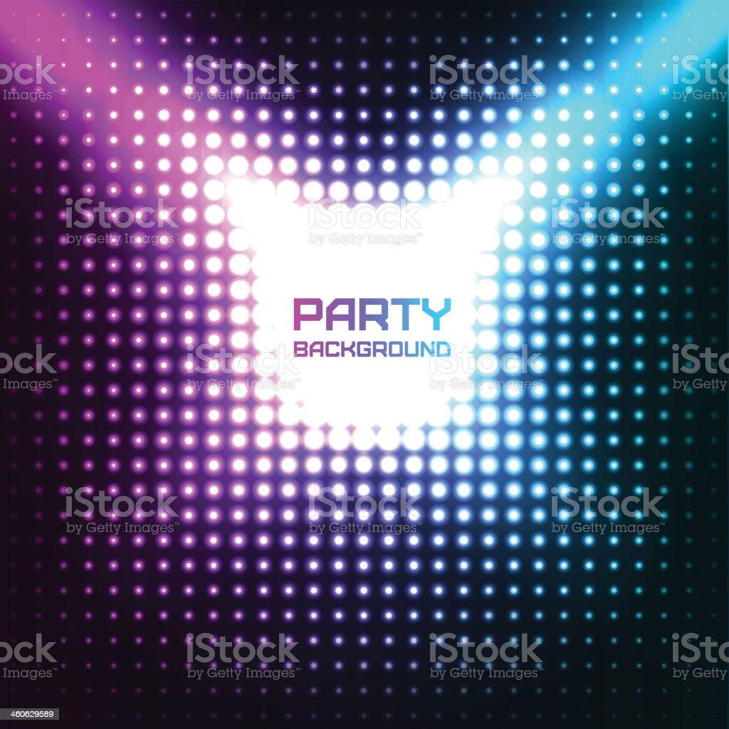 Shiny Disco Party Background vector art illustration