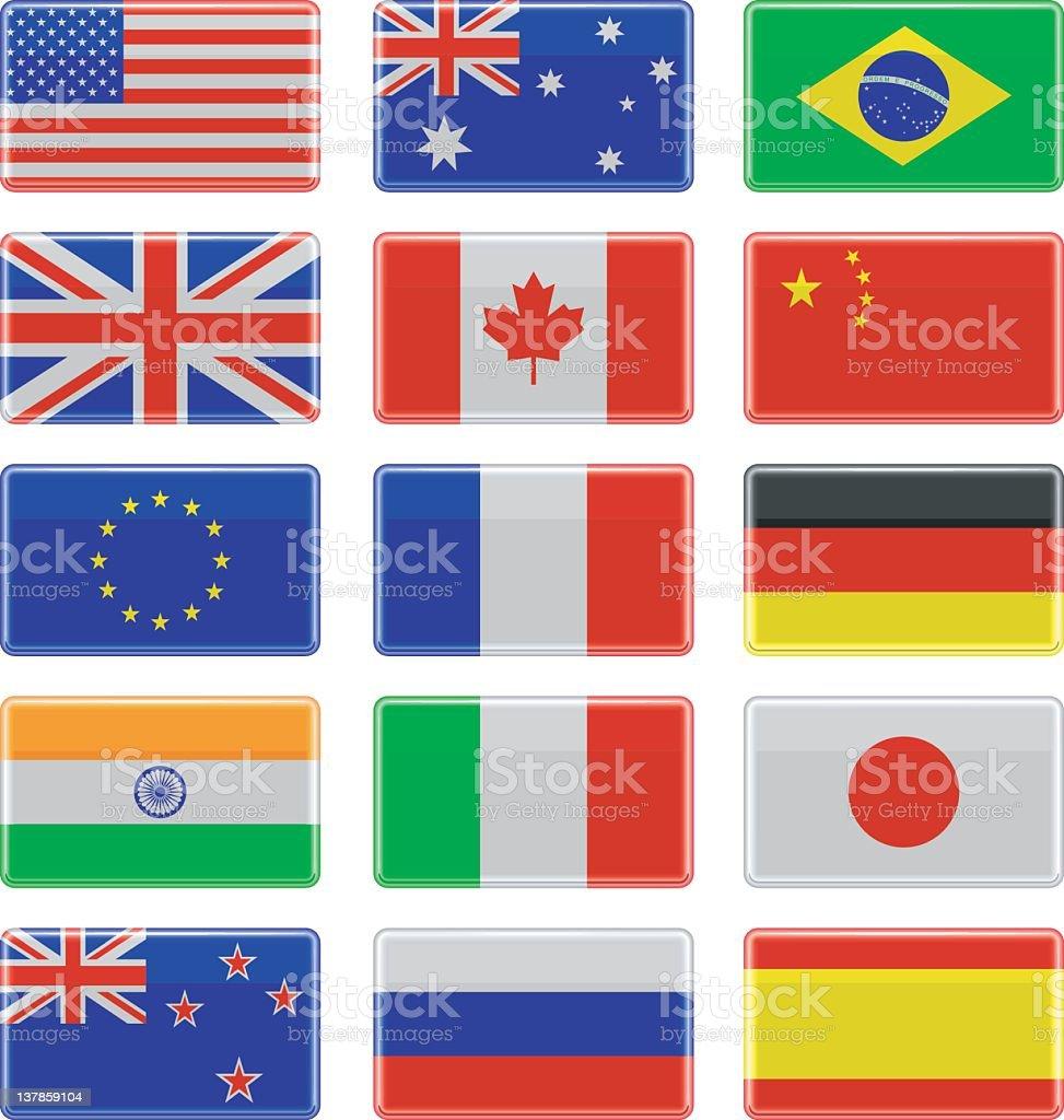 Shiny Flags royalty-free stock vector art