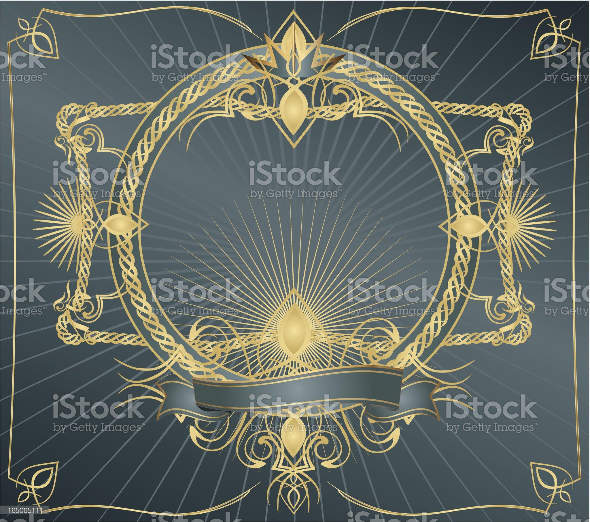 Shiny frame royalty-free stock vector art