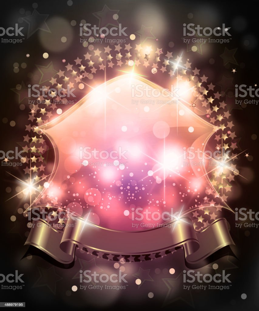 Shiny Glossy Frame with Banner royalty-free stock vector art