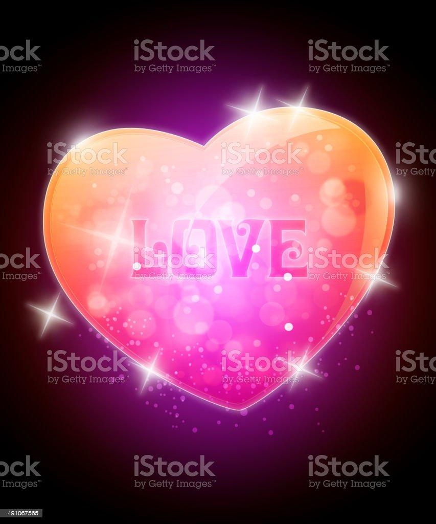 Shiny Glossy Heart Shape royalty-free stock vector art