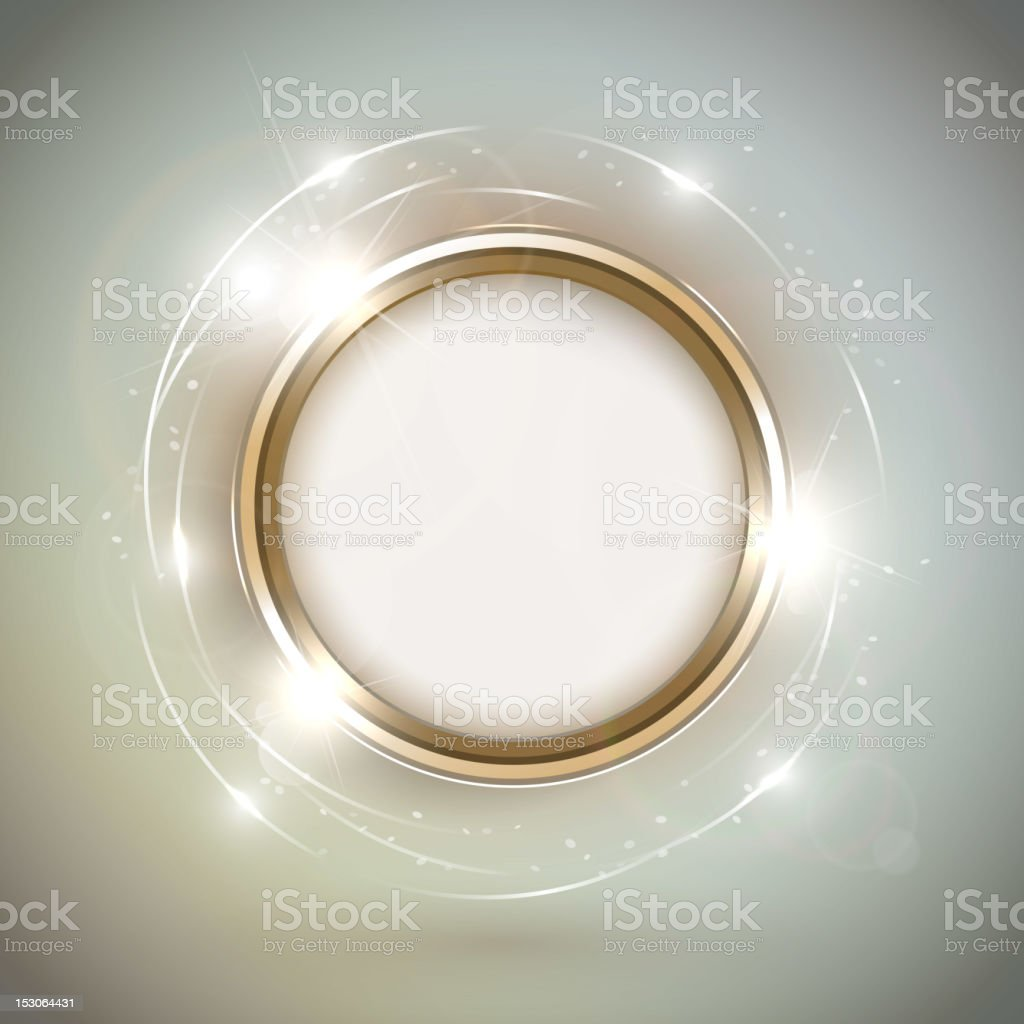 Shiny golden frame royalty-free stock vector art
