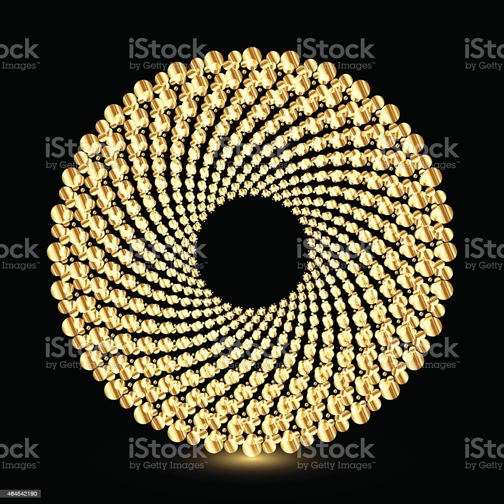 Shiny golden ring shape, vector illustration vector art illustration