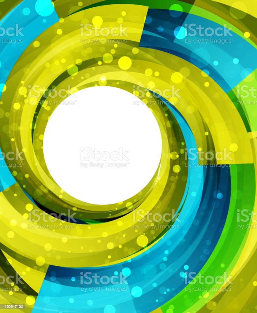 Shiny green and blue swirl background royalty-free stock vector art