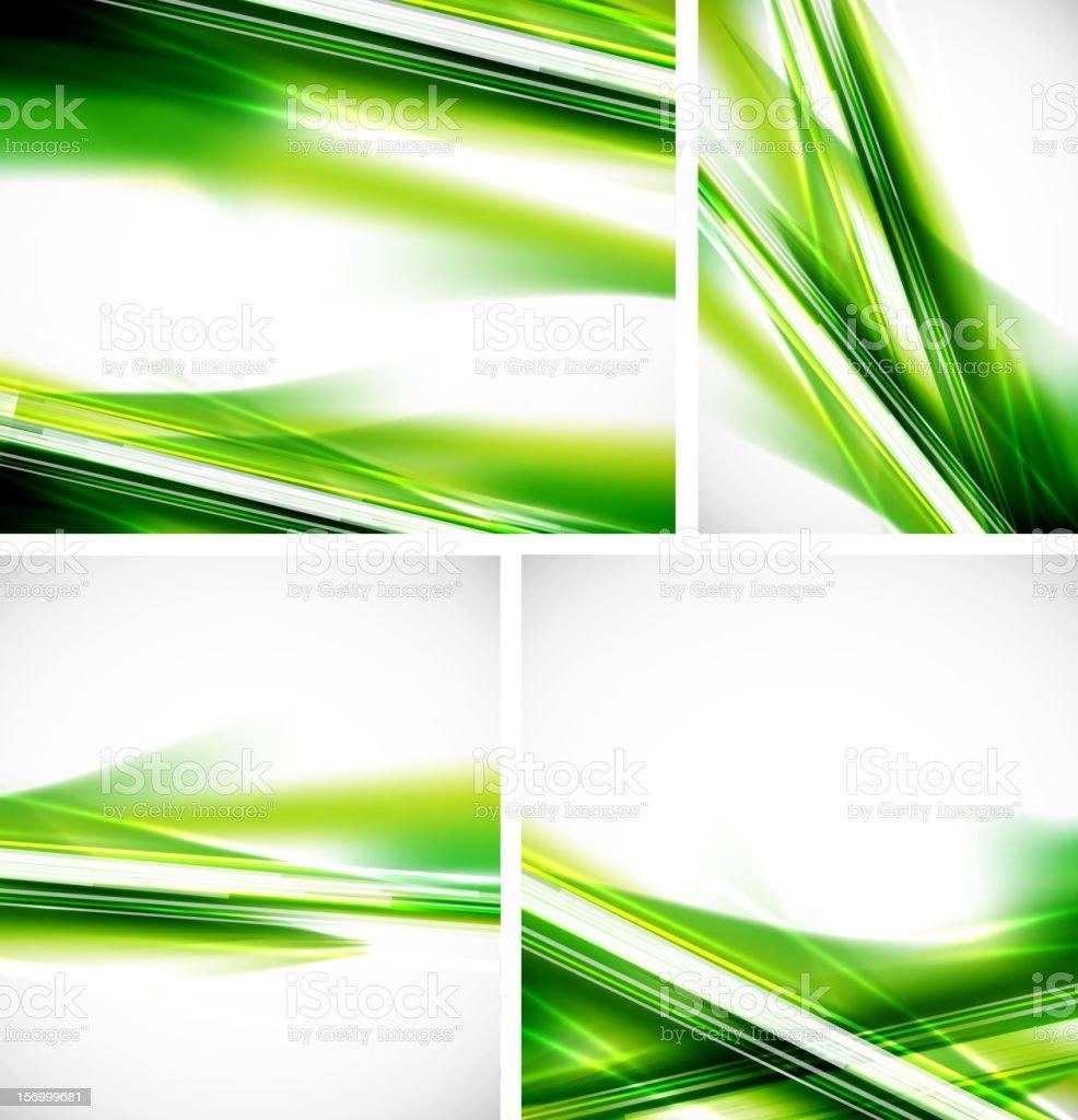 Shiny green lines backgrounds vector art illustration