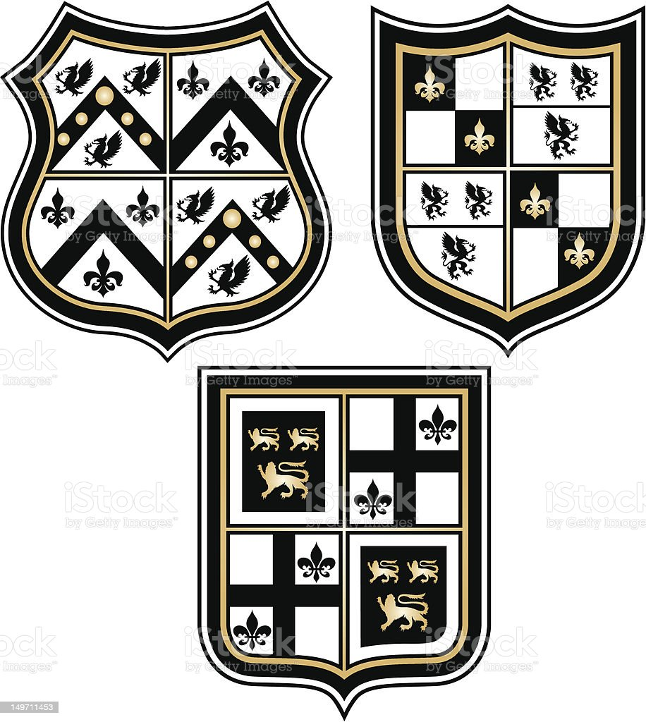 shiny heraldic emblem design royalty-free stock vector art
