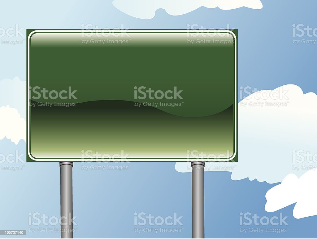 Shiny Highway Sign royalty-free stock vector art